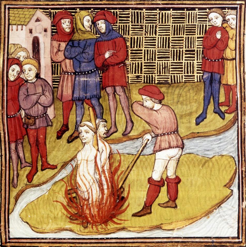 Mort des Templiers à Paris