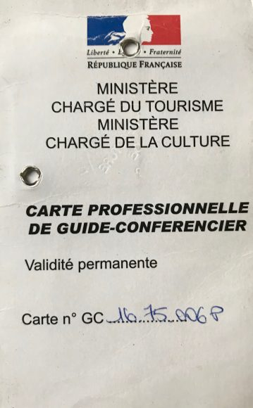 Private guide Paris License